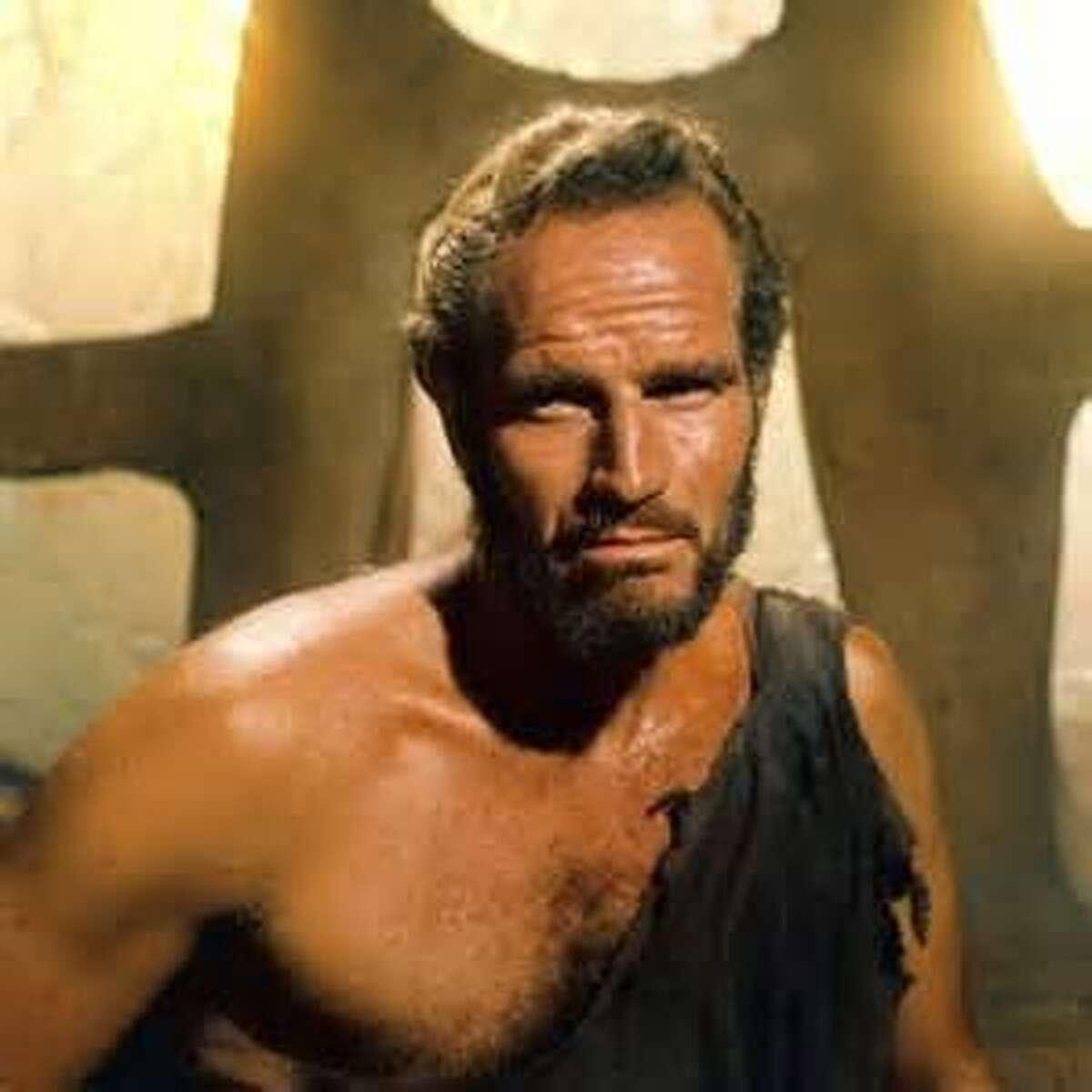 Charlton Heston in the last scene of