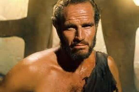 """Charlton Heston in the last scene of """"Planet of the Apes"""""""