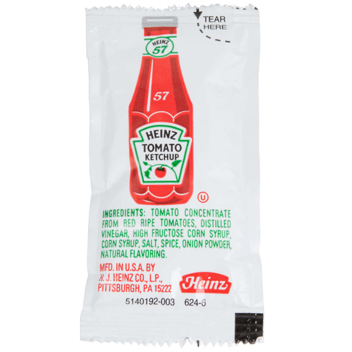 A Heinz ketchup packet, apparently swallowed unwittingly by a 35-year-old woman, led to six years of painful symptoms that mimicked Crohn's disease.