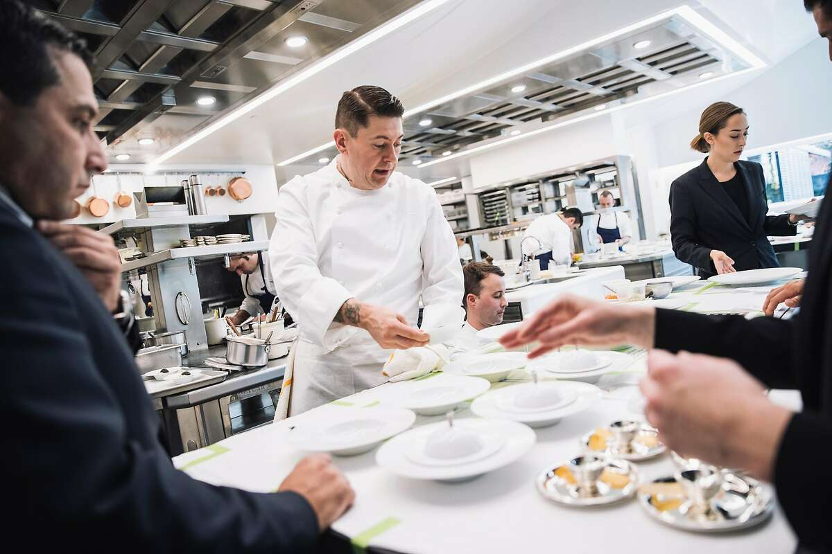 Chef de Cusine David Breeden works inside the newly remodeled French Laundry Kitchen during lunch service at the French Laundry in Yountville, Calif. on Saturday, Dec. 9, 2017.
