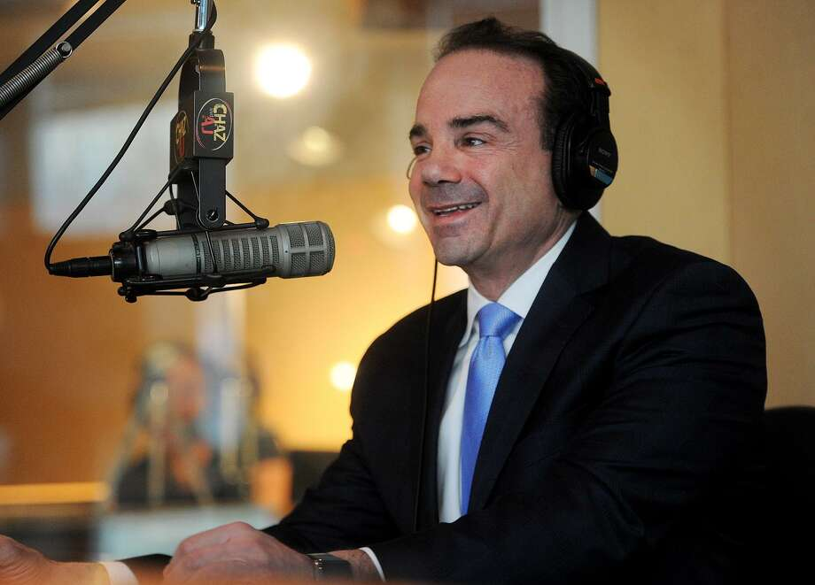 Bridgeport Mayor Joe Ganim announces his candidacy for governor on the Chaz & A.J. morning show on WPLR radio in Milford, Conn. on Wednesday, January 3, 2018. Photo: Brian A. Pounds / Hearst Connecticut Media / Connecticut Post