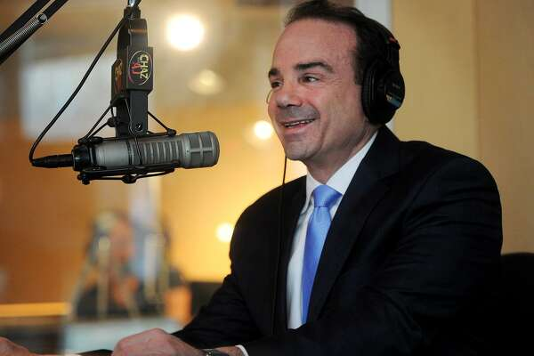 Bridgeport Mayor Joe Ganim announces his candidacy for governor on the Chaz & A.J. morning show on WPLR radio in Milford, Conn. on Wednesday, January 3, 2018.
