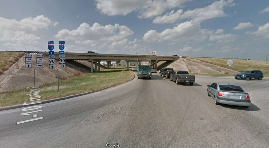 I-10 and FM 15167 p.m. until 5 a.m. nightly Tuesday-Friday, January 2-5. Main lanes, both directions, between Foster Road and FM 1516. Alternating lanes will close while crews move barrier. Photo: Google Maps
