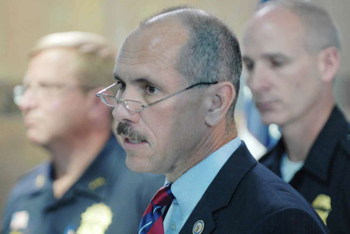 U.S. Attorney Grant Jaquith, then an assistant U.S. attorney serving as the chief of the criminal division of the U.S. Attorney's office addresses at gathering at the Rensselaer Train Station in Rensselaer, NY on Thursday, Sept. 6, 2007 (Paul Buckowski/Times Union)