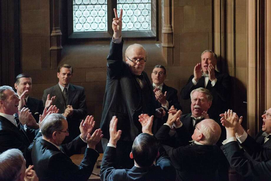 "This image released by Focus Features shows Gary Oldman as Winston Churchill in a scene from ""Darkest Hour."" (Jack English/Focus Features via AP) ORG XMIT: NYET968 Photo: Jack English / © 2017 FOCUS FEATURES LLC. ALL RIGHTS RESERVED."