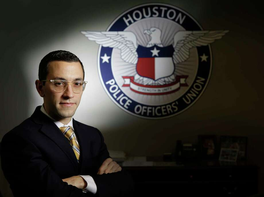 Joe Gamaldi, the incoming Houston Police Officers Union president, is shown in his office Monday, Dec. 18, 2017, in Houston. Photo: Melissa Phillip, Houston Chronicle / © 2017 Houston Chronicle
