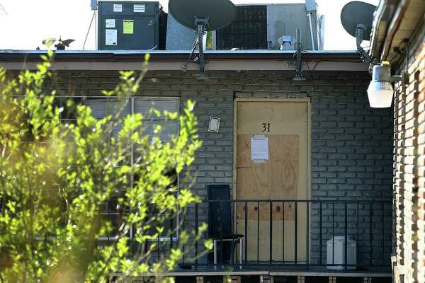 The Carriage Way apartment complex, photographed one week after an FBI takedown, was home to a sex trafficking operation by the Southwest Cholos in the Gulfport section of Houston between 2009 and 2017, according to allegations. Twenty-two defendants face federal charges in the ring agents say brought undocumented women—including a 14-year-old girl--across the border and forced them to work as prostitutes. The names of their pimps were tattooed on their bodies and their families were threatened with violence if they tried to flee, which several women did, only to be hauled back by the gang's enforcers. Photographed Wednesday, Nov. 15, 2017, in Houston. ( Godofredo A. Vasquez / Houston Chronicle )