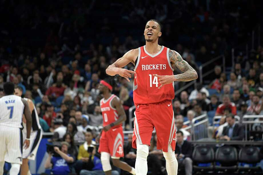 For just his fourth game in a Rockets uniform, Gerald Green did all right for himself … and his new team Wednesday night. He made 7 of 10 3-pointers en route to a team-high 27 points in less than 28 minutes. Photo: Phelan M. Ebenhack, FRE / FR121174 AP