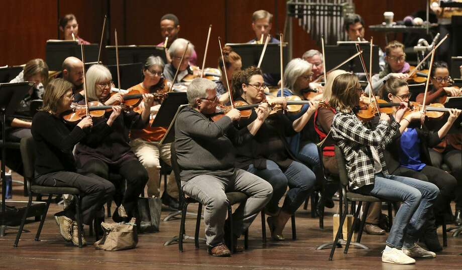 The San Antonio Symphony musicians, shown rehearsing in January, soon will begin contract negotiations for the 2018-'19 season. Their current contract runs through August. Photo: John Davenport /San Antonio Express-News / ©San Antonio Express-News/John Davenport