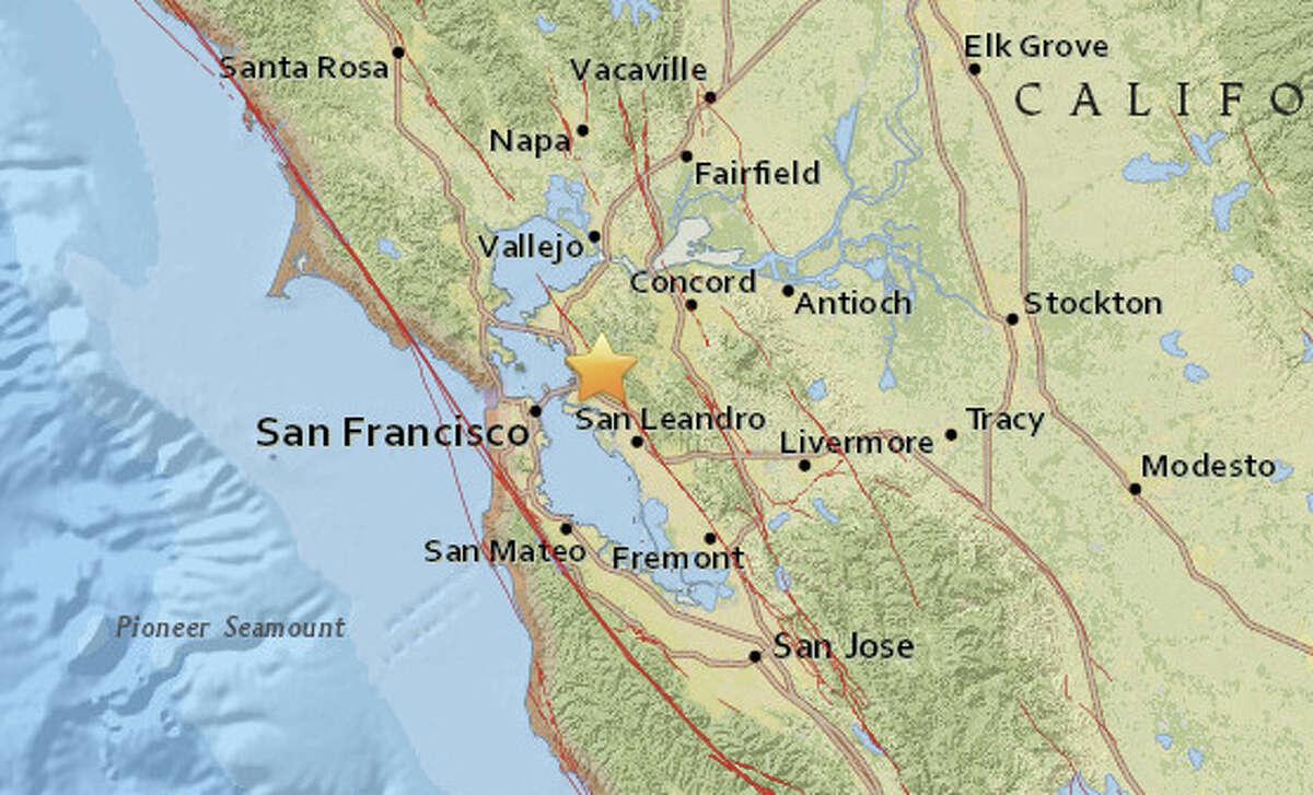 A magnitude 4.4 earthquake struck in Berkeley at 2:39 am.