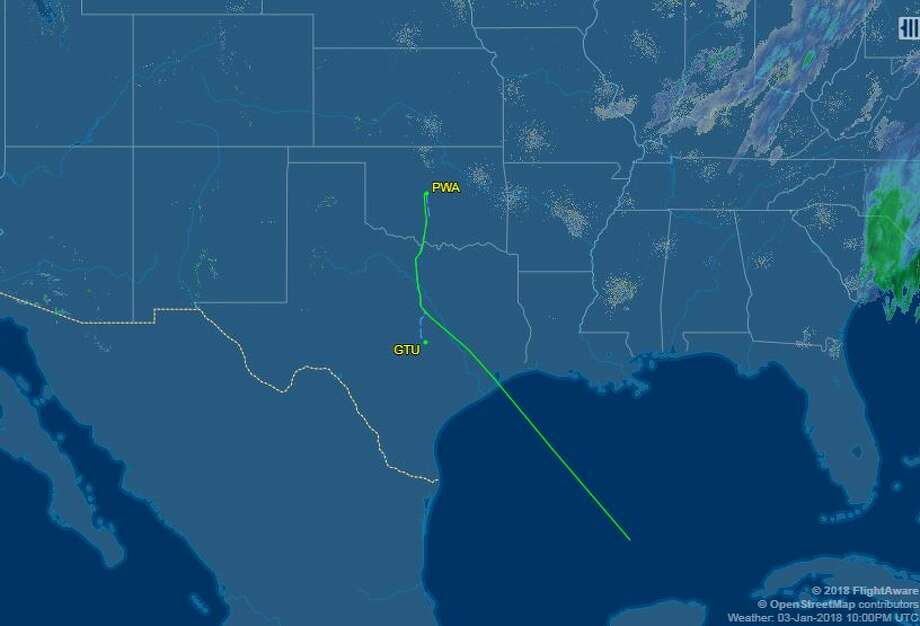 The missing plane's flight path