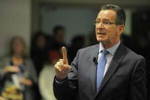 Gov. Dannel P. Malloy on Thursday morning asked state residents to stay home so that DOT plows can better handle the first major snow storm of the season that is expected to dumpo between a foot and 15 inches, before tapering off around 9 p.m.