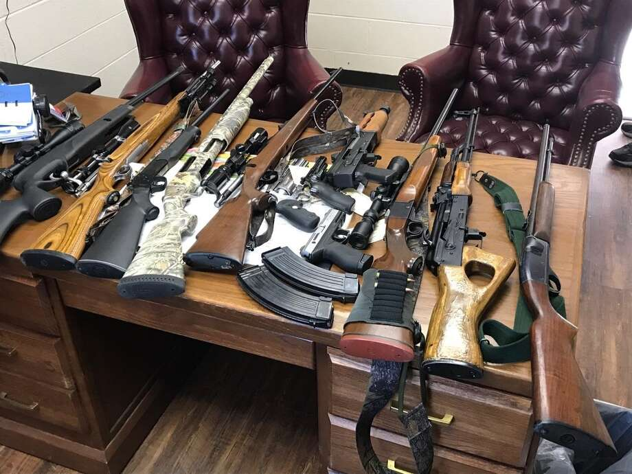 Several guns stolen from Jasper County on Tuesday morning were accidentally uncovered by Newton authorities. Photo: Newton County Sheriff's Office