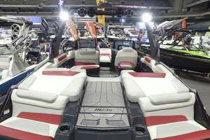 Some of the watercraft on display at the 2017 edition of the San Antonio Boat show in the Alamodome. The show has moved to the Convention Center for 2018 (Jan 4-7)