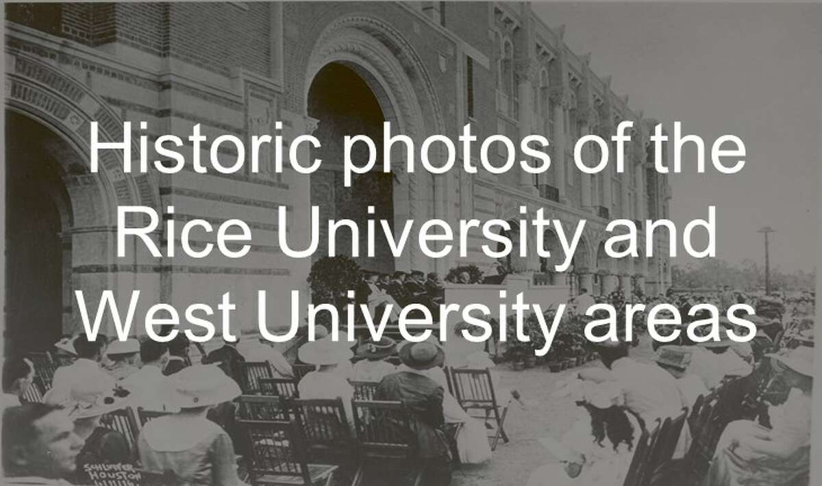 Scroll ahead to see historic photos of the Rice University and West University areas.