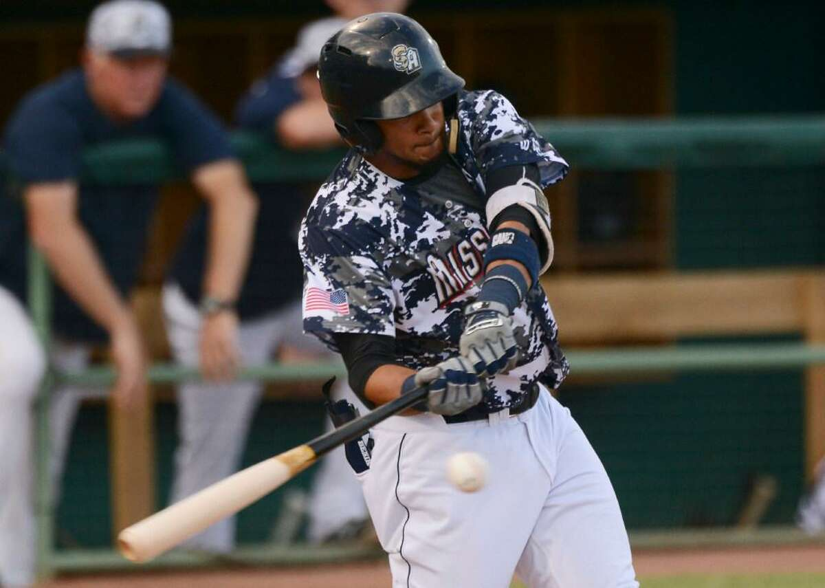 rnando Tatis Jr. of the San Antonio Missions, who is the son of a former Major League Baseball player, hits a single against Frisco on Wednesday, Aug. 23, 2017.