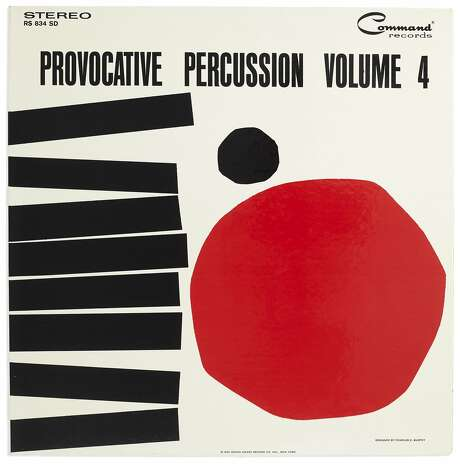 "Josef Albers' jacket for ""Provocative Percussion Volume 4 by Enoch Light and The Light Brigade"" (1962) is part of the exhibition ""Art & Vinyl"" at�Fraenkel Gallery Photo: � 2018 The Josef And Anni Albers Foundation / Adagp, Paris, Fraenkel Gallery"
