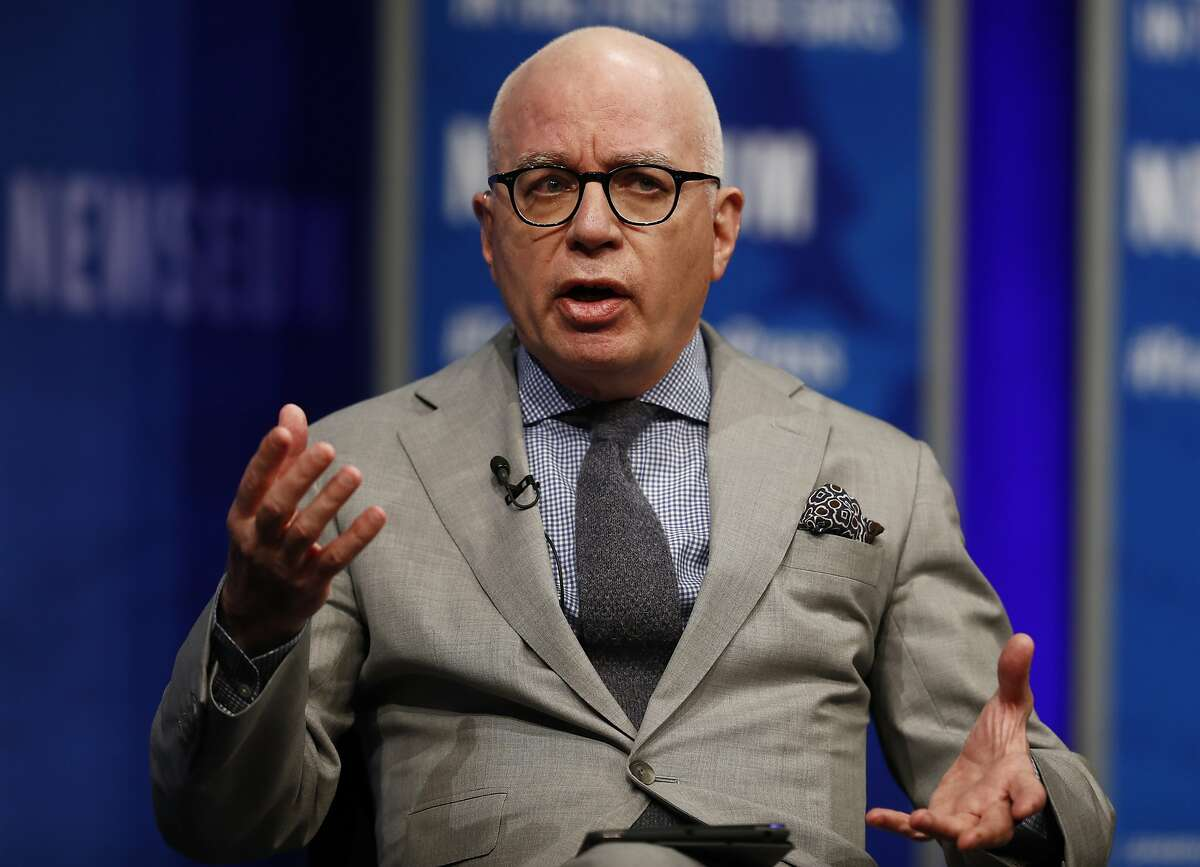 FILE - In this April 12, 2017, file photo, Michael Wolff of The Hollywood Reporter speaks at the Newseum in Washington. Wolff used to worry about the spotlight moving on. No longer. The author of an explosive book on President Donald Trump�s administration is the target of a cease and desist letter from Trump�s lawyers. And he�s the focus of a campaign by the president�s allies to cast doubt on the book�s claim that Trump is a reluctant and troubled president. (AP Photo/Carolyn Kaster, File)