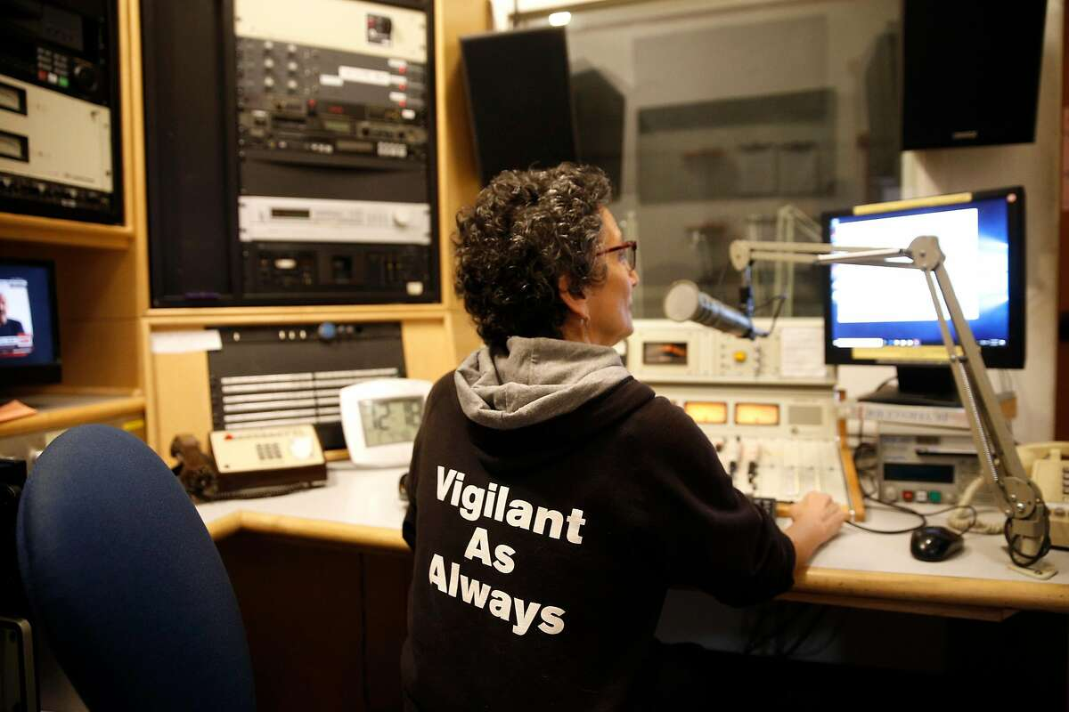Aileen Alfandary is the news department co-director at 94.1 KPFA radio in Berkeley, Ca., as seen on Thurs. January 4, 2018.