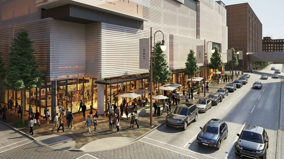 Artist rendering of Lyric Market, a culinary marketplace under construction 411 Smith at Prairie in downtown Houston. Developed by Houston real estate developer Jonathan Enav, the 31,000-square-foot Lyric Market is expected to open in fall 2018. Photo: Renderings By Neezo Studios