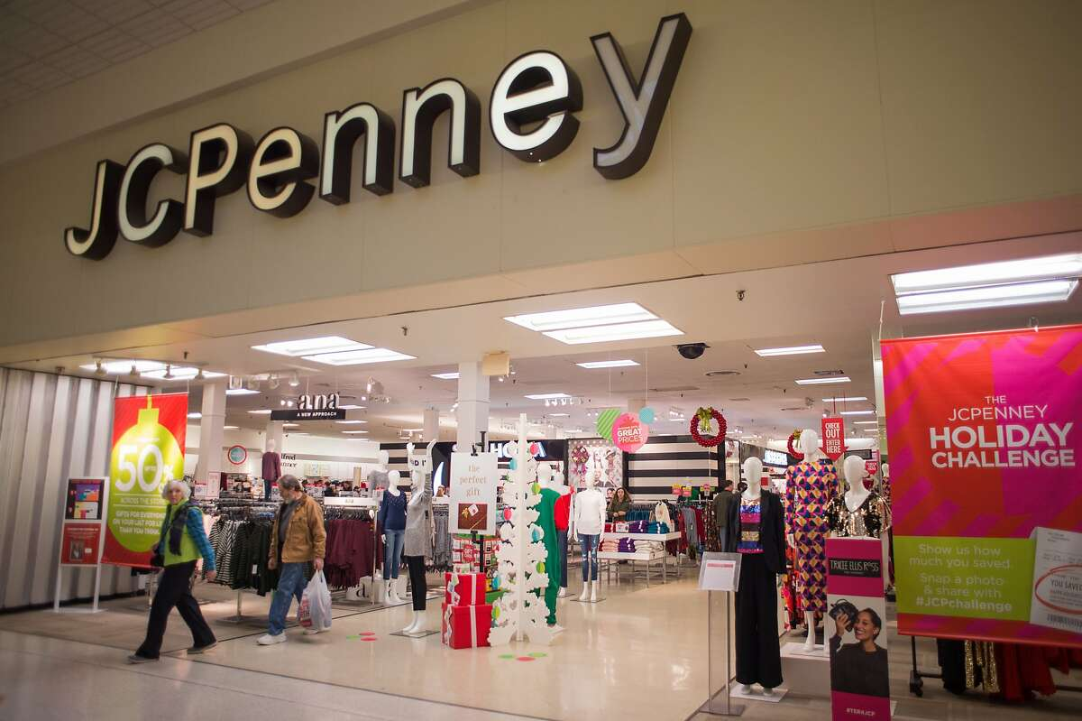 JCPenney Why it is likely to fall: Combined long-term and short-term debt of $4.2 billion, 10 years of misguided management decisions; Ron Johnson's tenure as CEO was a disaster; fierce competition from Walmart and Target, both of which are more successful. Why it might survive: Slim hope that a refocus on over-45 women's clothing with brands like Liz Claiborne, Jeffrey Davis can right the ship. Core customer is a middle-aged to senior woman. JCPenney operates stores in Daly City, San Bruno, Newark, Hayward and San Jose.