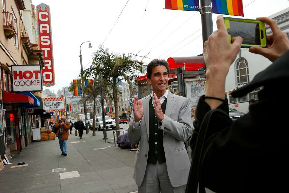 Mark Leno, once a business-friendly supervisor who became more liberal as a state senator, campaigns for mayor last week in the Castro district. Photo: Santiago Mejia, The Chronicle