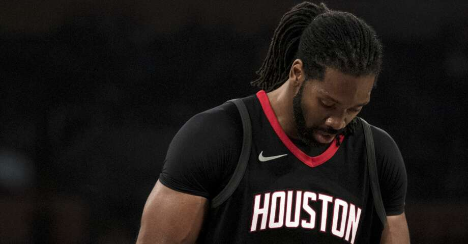 Houston Rockets center Nene Hilario (42) during the first half of an NBA basketball game, Sunday, Dec. 3, 2017, in Los Angeles. (AP Photo/Kyusung Gong) Photo: Kyusung Gong/Associated Press