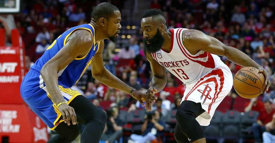 Neither the Rockets nor Warriors made moves at the NBA's trade deadline Thursday. Photo: Jon Shapley/Houston Chronicle
