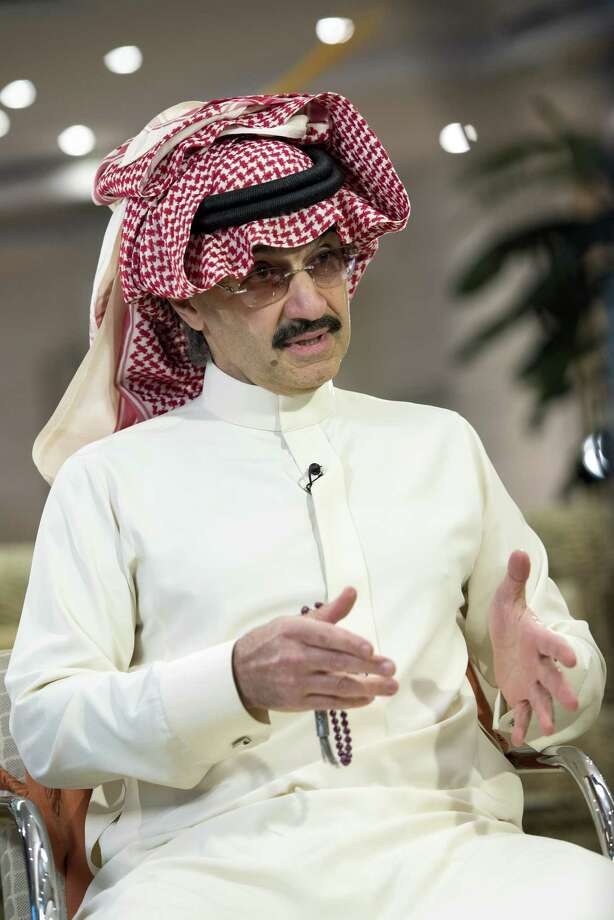 FILE: Prince Alwaleed Bin Talal, Saudi billionaire and founder of Kingdom Holding Co., speaks during a Bloomberg Television interview at the MiSK Global Forum event in Riyadh, Saudi Arabia, on Wednesday, Nov. 16, 2016. Saudi Arabia's King Salman embarked on the most sweeping crackdown yet of his reign, ordering security forces to arrest senior princes including one of the world's richest men and driving out one of the most prominent officials from his ministerial role. Those detained included billionaire Prince Alwaleed bin Talal, who was picked up at his desert camp outside Riyadh, according to a senior Saudi official. Our editors select the best archive images of Prince Alwaleed bin Talal. Photographer: Mohammad Obaidi/Bloomberg Photo: Mohammad Obaidi / © 2016 Bloomberg Finance LP