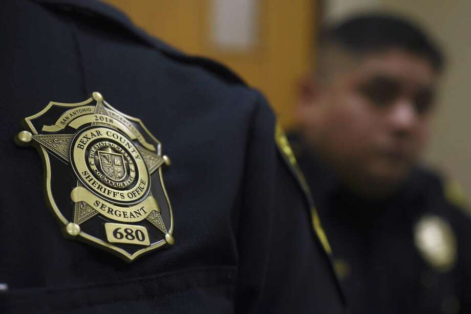 San Antonio Tricentennial antique brass Bexar County Sheriff's Office badges are issued to sergeants and above all the way up to the rank of sheriff. Photo: Billy Calzada, Staff / San Antonio Express-News