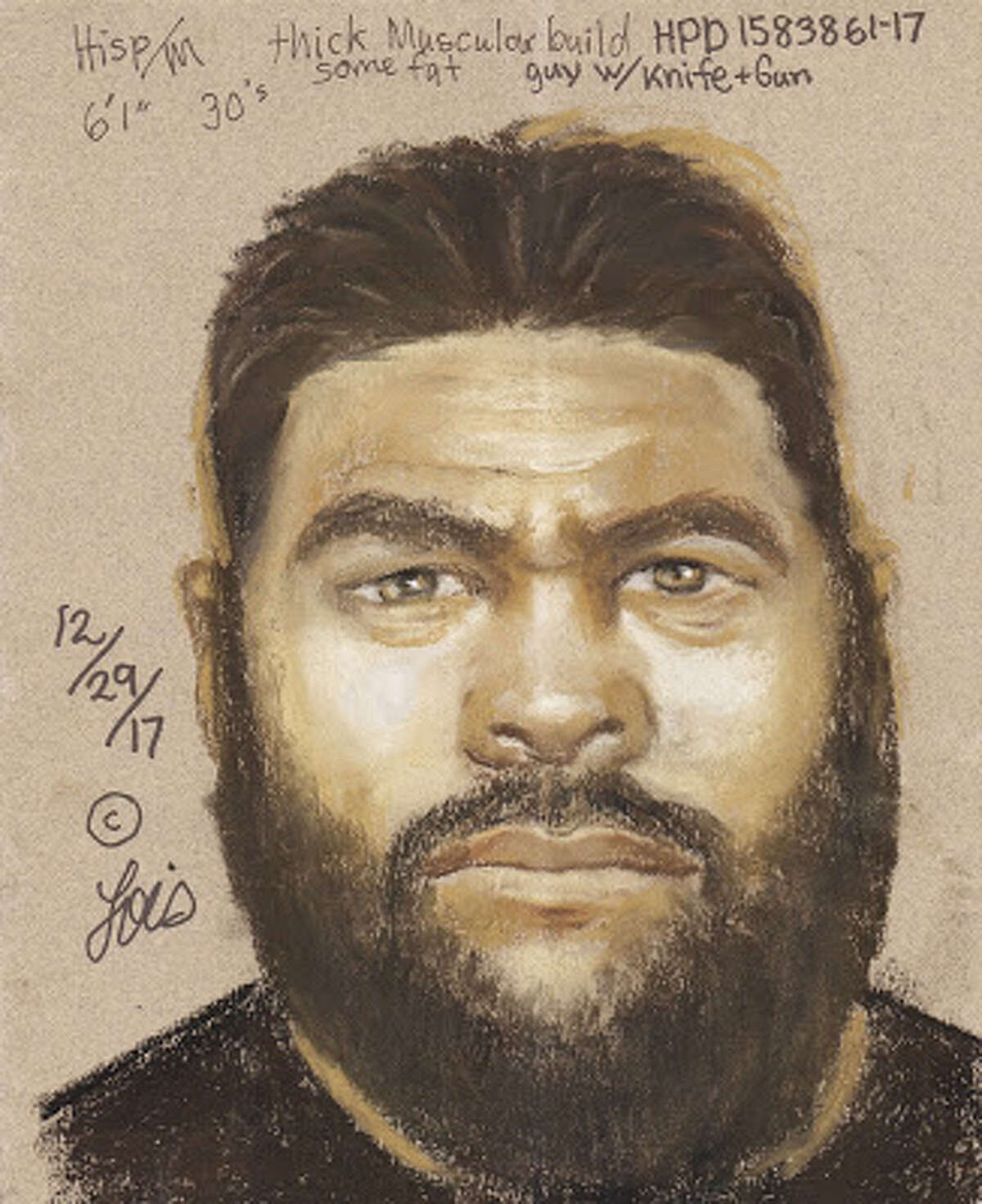 A sketch of one of the men who was involved in a robbery on Dec. 18 outside Whataburger. >> Keep clicking to see some of the weirdest and sketchiest police sketches ever...