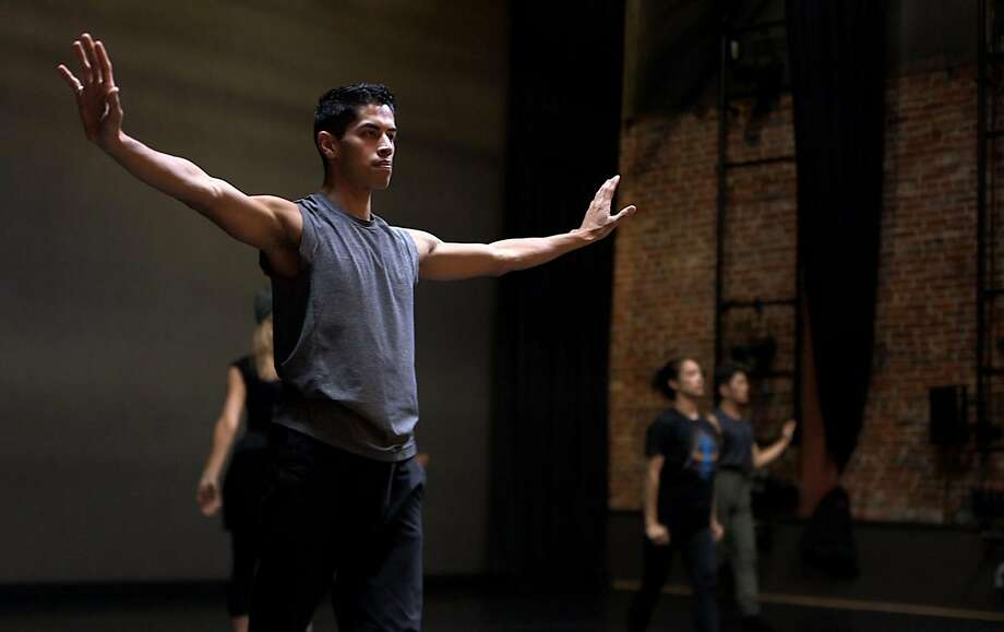 Gabriel Mata rehearses with SJ Dance Company at ODC Theater in San Francisco on Nov. 3, 2017. Photo: Manjula Varghese, The Chronicle