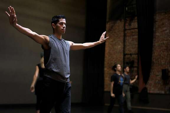 Gabriel Mata rehearses at ODC theater in San Francisco with SJ Dance company on November 3rd 2017. Mata came to the United States from Mexico when he was 5 years old.