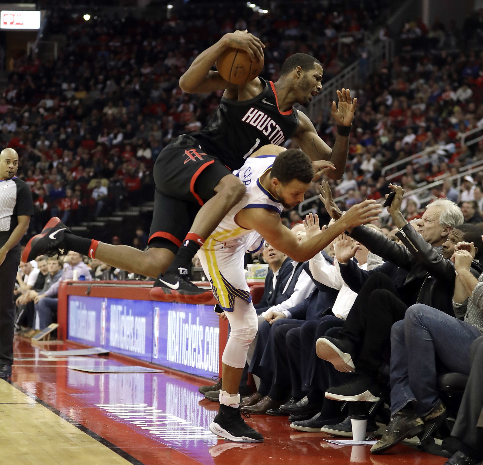 Houston Rockets Record 2018: Steph Curry And Usher Collision During Warriors Game Sends
