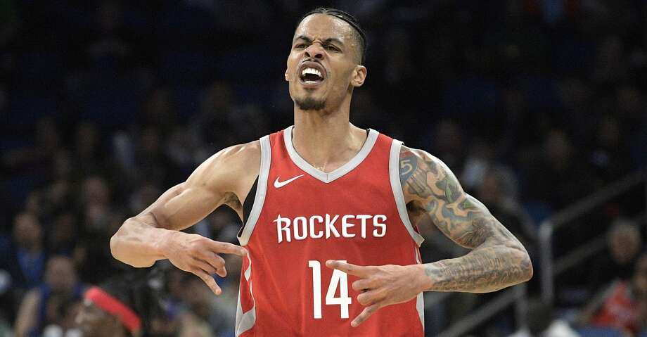 Houston Rockets guard Gerald Green (14) celebrates after scoring a 3-pointer during the second half of an NBA basketball game against the Orlando Magic Wednesday, Jan. 3, 2018, in Orlando, Fla. The Rockets won 116-98. (AP Photo/Phelan M. Ebenhack) Photo: Phelan M. Ebenhack/Associated Press