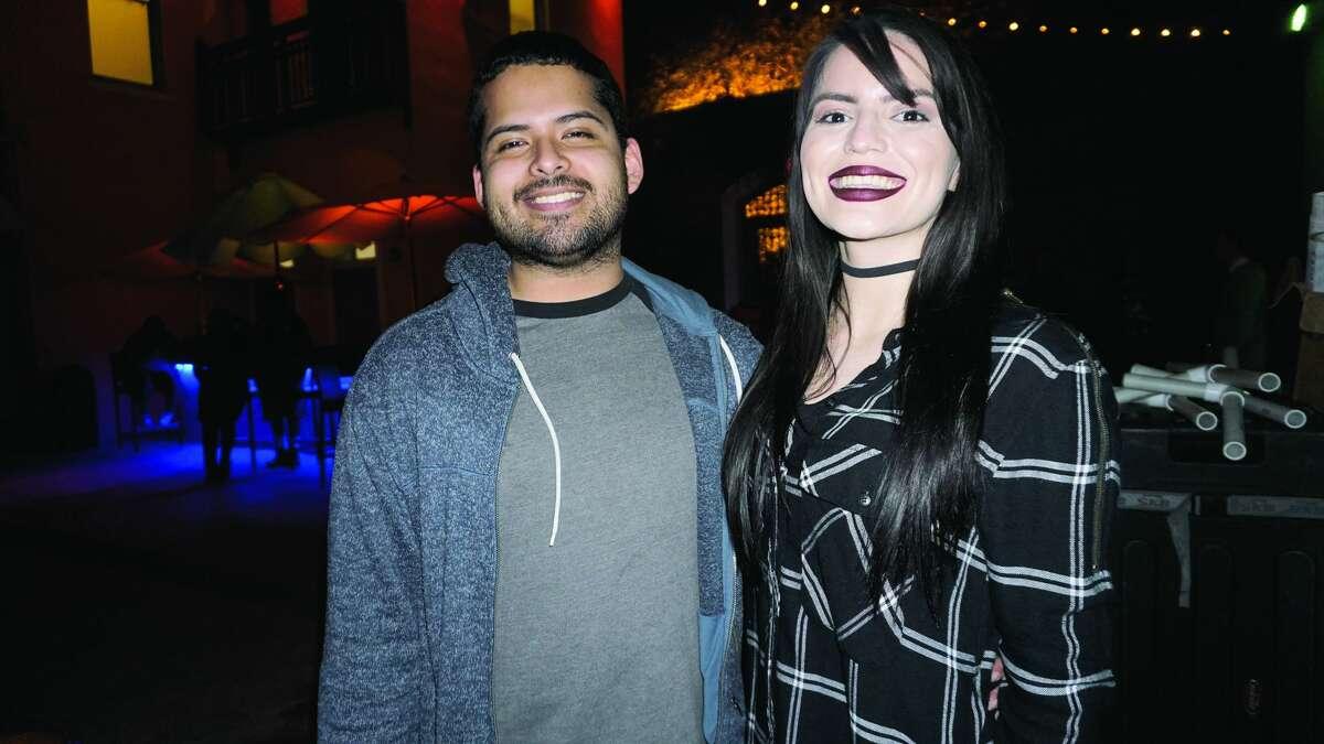Edward Ortiz and Larissa Garner at Siete Banderas Friday, January 5, 2018