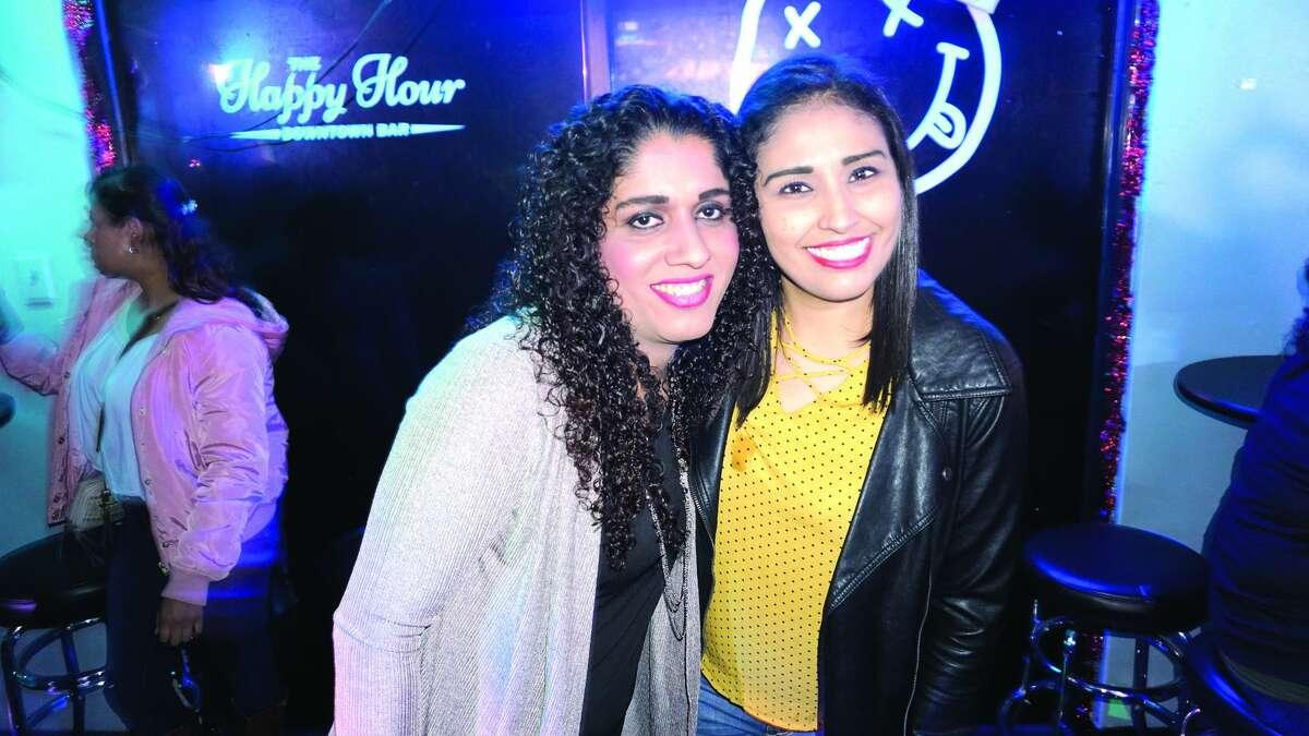 Ayde Miranda and Jenny Chavez at The Happy Hour Downtown Bar Friday, January 5, 2018