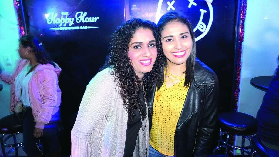 Ayde Miranda and Jenny Chavez at The Happy Hour Downtown BarFriday, January 5, 2018 Photo: JG MORALES