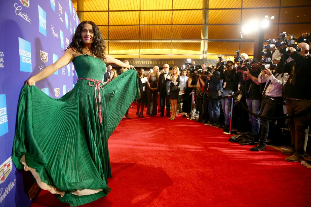 Salma Hayek attends the 29th annual Palm Springs International Film Festival Awards Galain Palm Springs, California, on Jan. 2, 2018.