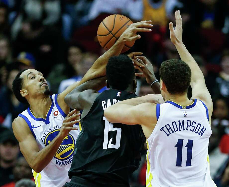 Shaun Livingston, left, is playing better now than he was during regular season against Rockets. Photo: Brett Coomer, Staff / © 2018 Houston Chronicle