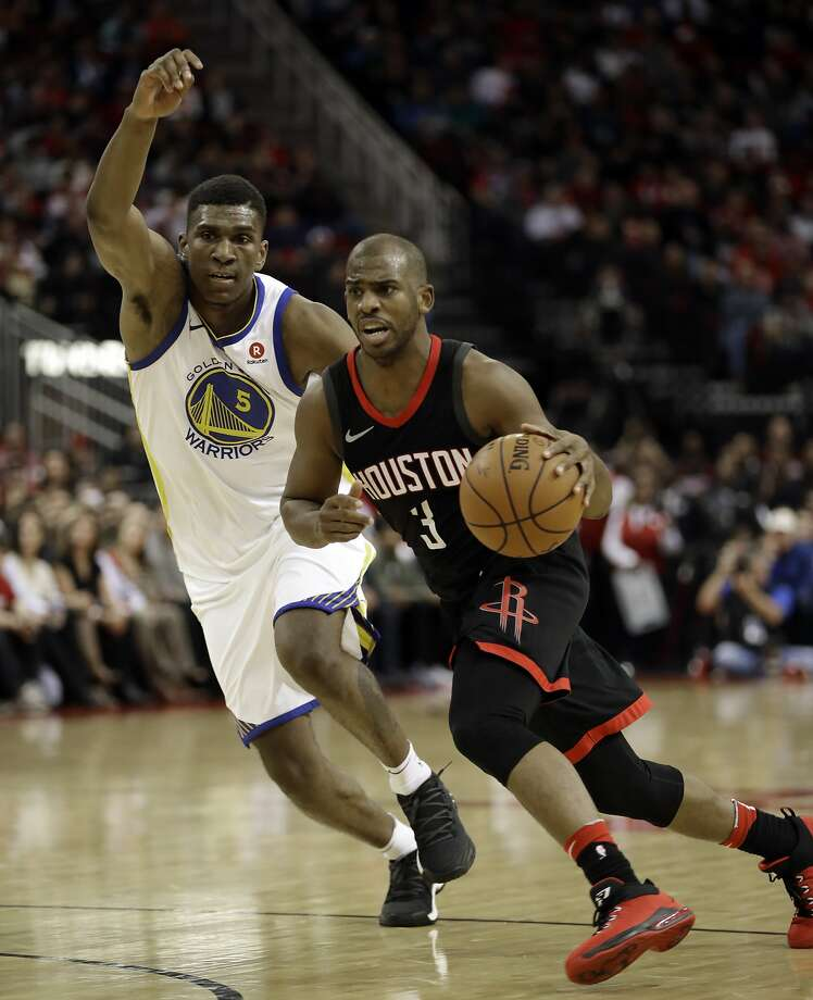8ac02c341ab Houston Rockets  Chris Paul (3) drives toward the basket as Golden State  Warriors