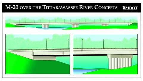 MDOT officials excited about cost of M-20 Bridge - Midland