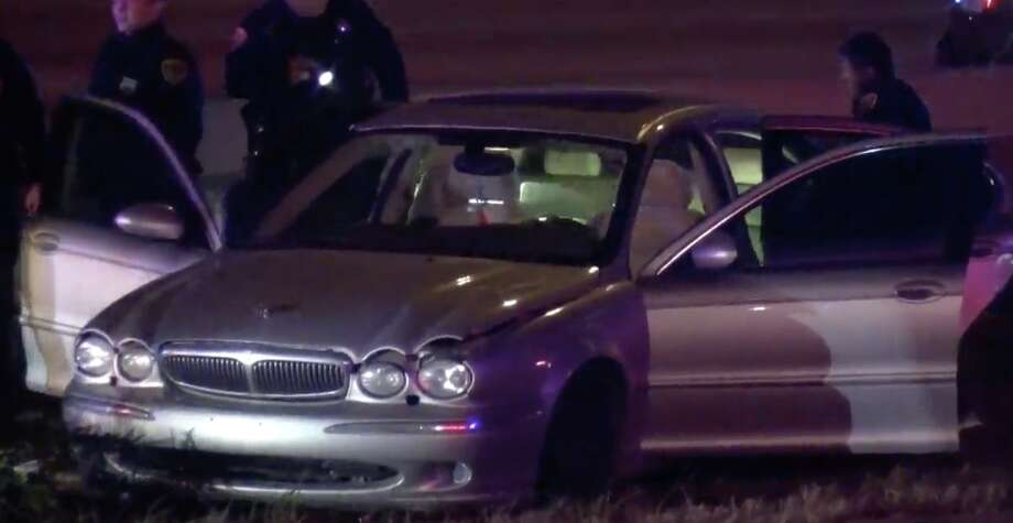 A Jaguar led police on a high-speed chase across Houston, leading to criminal charges. Photo: Metro Video