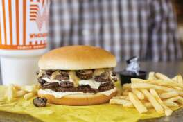 Texas' beloved burger chain Whataburger announced their newest addition to the menu, the Mushroom Swiss Burger.   The burger features two patties, topped with mushrooms, Swiss cheese and Au Jus sauce.