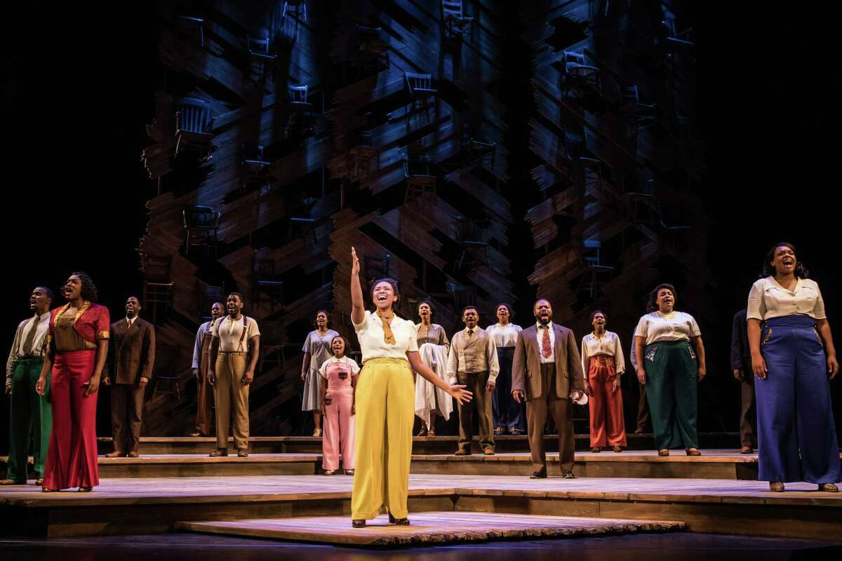 """Adrianna Hicks and the North American tour cast of """"The Color Purple."""""""
