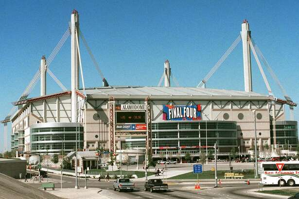 The Alamodome in San Antonio, Texas, is show Sunday, March 21, 1998,  will host the NCAA Men's Final Four this week. (AP Photo/Bill Waugh) HOUCHRON CAPTION (06/14/1999): The Spurs have played in the Alamadome since 1993 but have found in the case of an NBA team and its arena, bigger is not necessarily better.