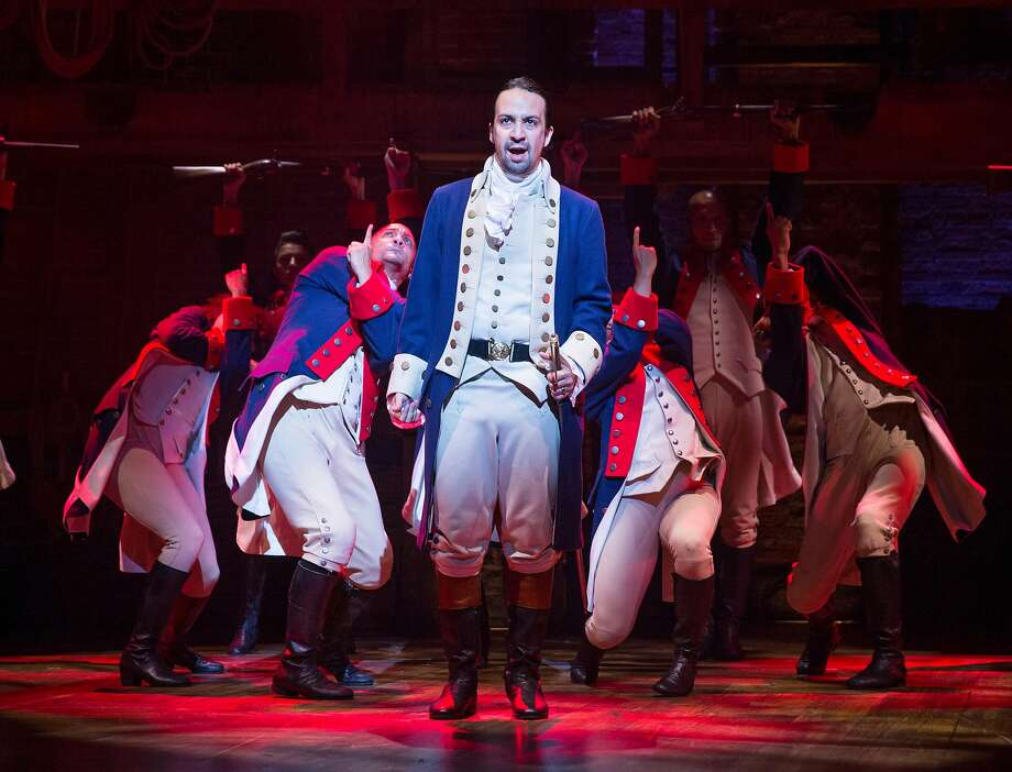 "In this file photo, Lin-Manuel Miranda plays Alexander Hamilton in ""Hamilton"" at the Richard Rodgers Theater in New York on July 11, 2015. Seattle police believe dozens of people may have been victimized by a man selling fake tickets to the hit musical's Seattle run, which began earlier this month. Photo: SARA KRULWICH, NYT"