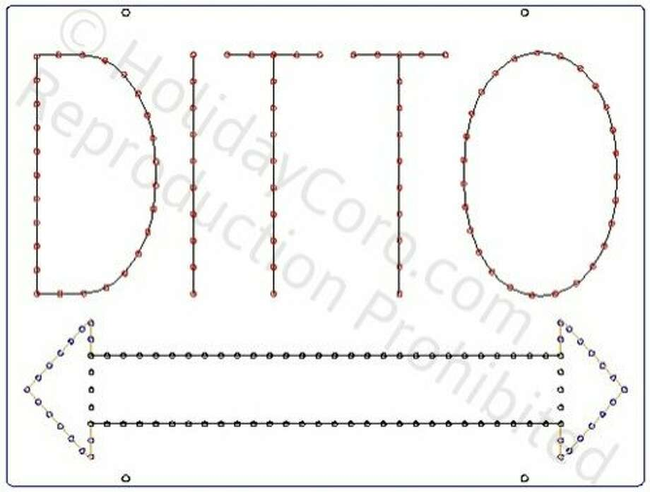 The Ditto sign as sketched in ad Photo: Drawing For Sign Specs, From Holiday Coro, Leah Garchik