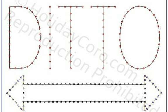 The Ditto sign as sketched in ad