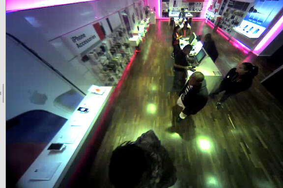 """Officers with the city of Oak Ridge North Police Department said a T-Mobile store on the feeder of Interstate 45 North has been the target of at least three """"grab and go"""" burglaries."""